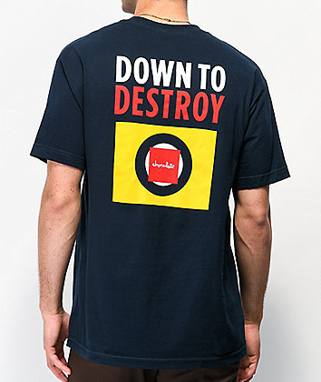 Chocolate Down To Destroy Navy T-Shirt
