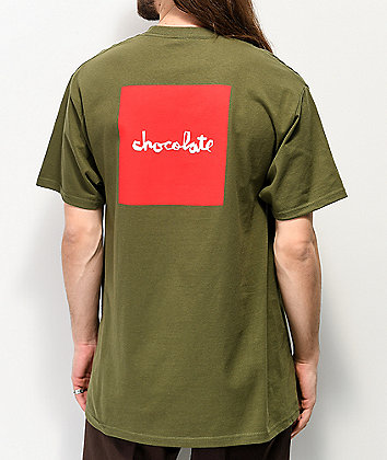 Chocolate Square Military Green T-Shirt