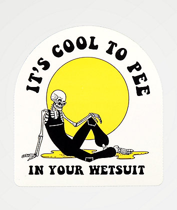 Chomp It's Cool To Pee In Your Suit Sticker