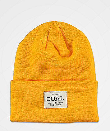 Coal Uniform Golden Rod Beanie