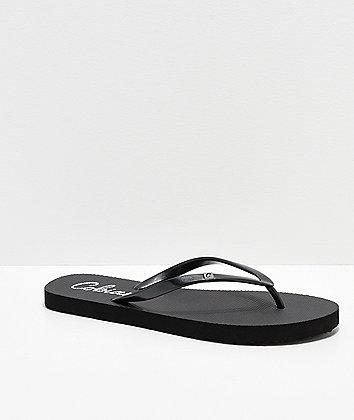 Cobian Cozumel All Black Thong Sandals