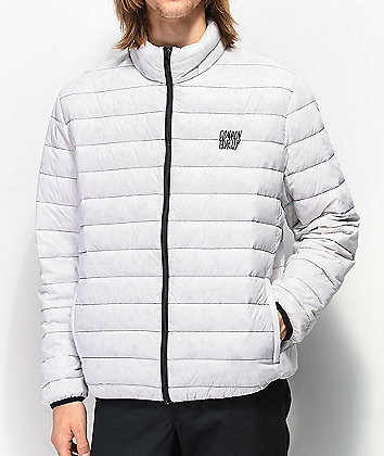 Common Capacitor White Puffer Jacket