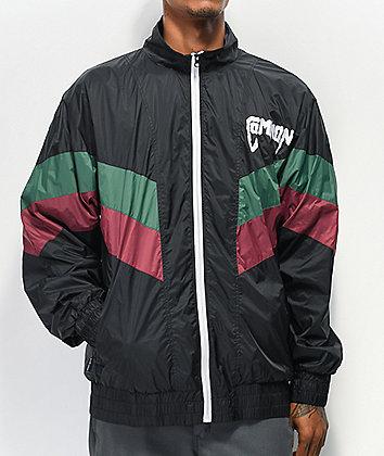 Common Kutit Black, Maroon & Green Windbreaker Jacket