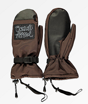 Common Line Brown Snowboard Mittens