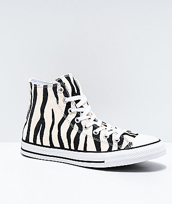 Converse Chuck Taylor All Star Hi Zebra Black & White Shoes