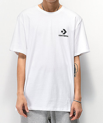 Converse Left Chest Star White T-Shirt