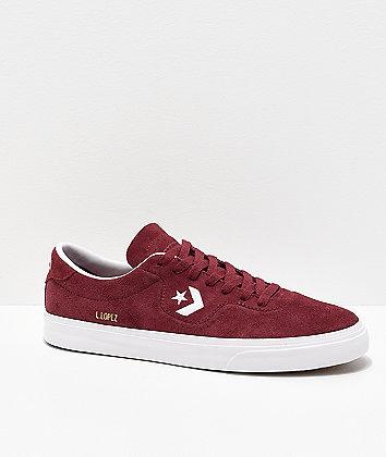 Converse Louie Lopez Pro Dark Burgundy & White Skate Shoes