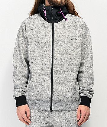 Converse Mixed Media Marbled Grey Hoodie