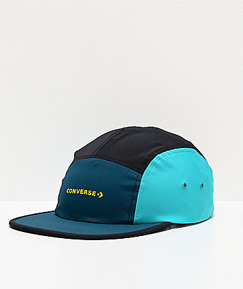 Converse Swap Out Camo Camp Turquoise & Sulphur Strapback Hat