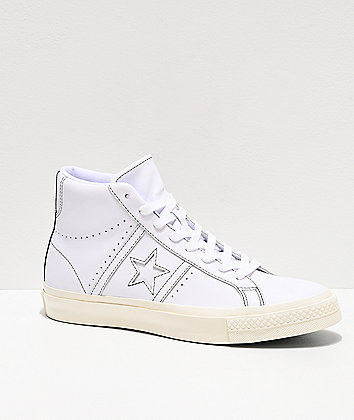 Converse x A Case Study One Star Academy White High Top Skate Shoes