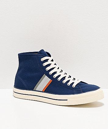 Converse x A Case Study Player LT Navy High Top Skate Shoes