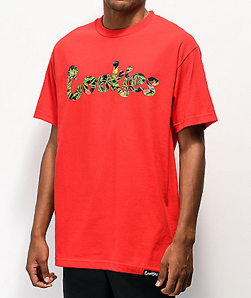 Cookies Birds Of Paradise Red T-Shirt