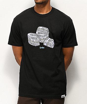Cookies Blue Strips Black T-Shirt