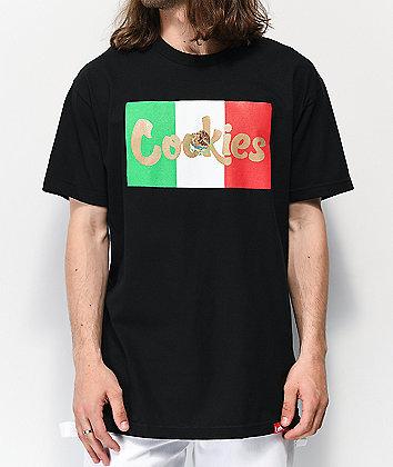Cookies Con Safos Flag Black T-Shirt