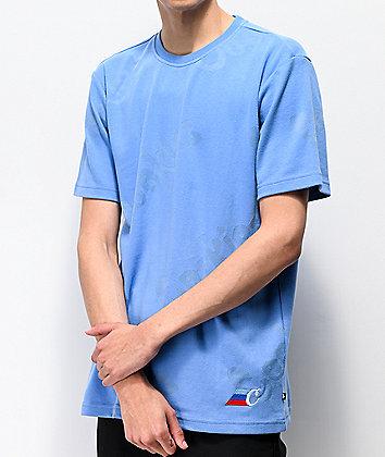 Cookies M3 AOP Blue Short Sleeve Knit Shirt