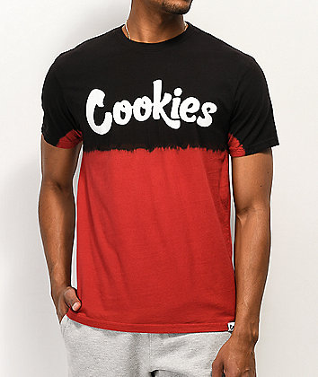 Cookies Red Tide Black & Red Tie Dye T-Shirt