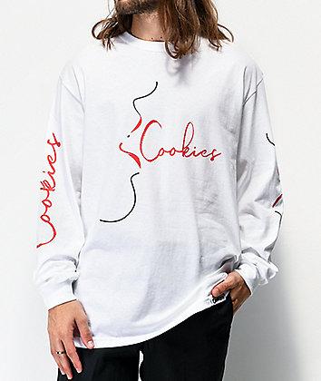 Cookies Speak Easy White Long Sleeve T-Shirt