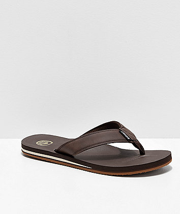 Cords Quarter Brown Faux Leather Sandals