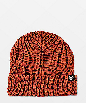 Cords Waffle Knit Rust Beanie
