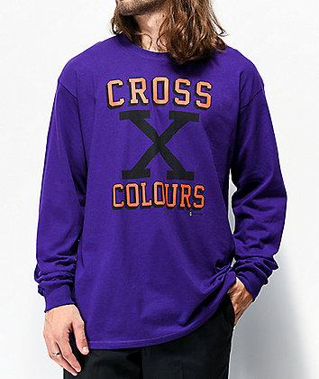 Cross Colours X Purple Long Sleeve T-Shirt