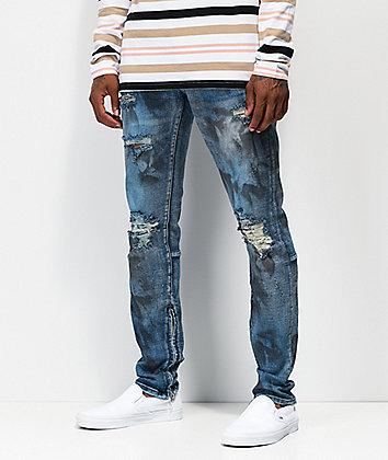 Crysp Pacific Oil Wash Blue Denim Jeans