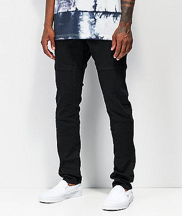 Crysp Rockwell Black Moto Jeans