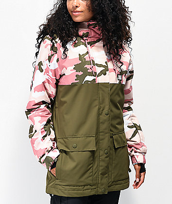 DC Cruiser Dusty Rose Camo 10K Snowboard Jacket