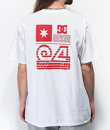 DC Flag Lines White T-Shirt