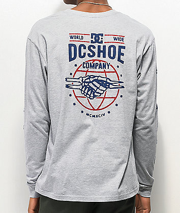 DC Greetings Grey Long Sleeve T-Shirt