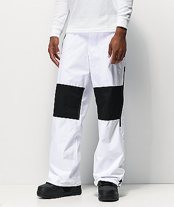 DC Podium White 10K Snowboard Pants
