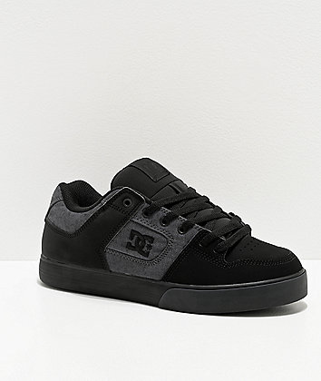 DC Pure TX SE Black Skate Shoes