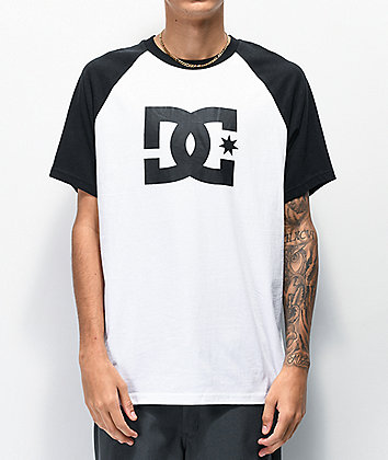 DC Star White & Black Raglan T-Shirt
