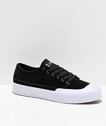 DC T-Funk Lo S Black & White Skate Shoes