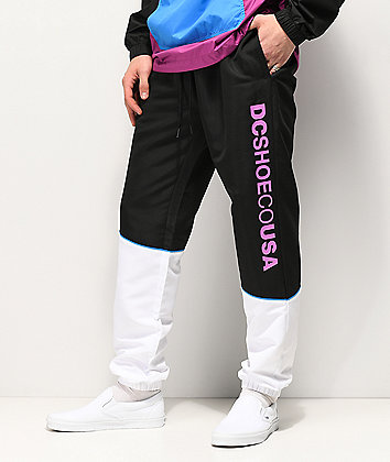 DC Tipton Black & White Track Pants