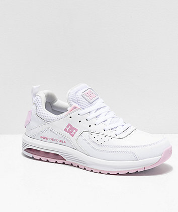 DC Vandium SE White & Pink Shoes