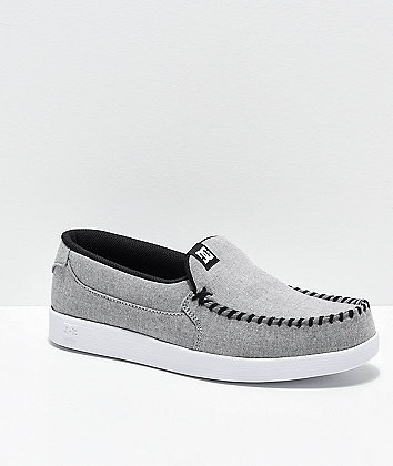 DC Villain TX SE Heather Grey Slip-On Shoes