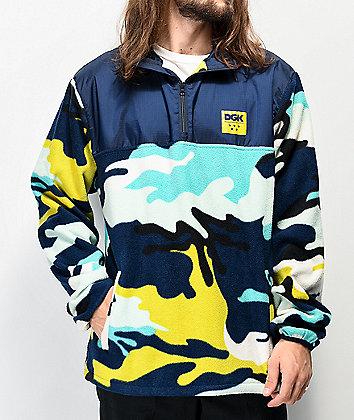 DGK Chili Arctic Camo Tech Fleece Jacket