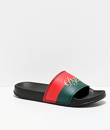 DGK Lux Black Slide Sandals