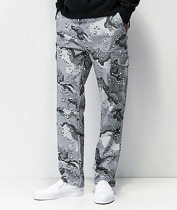 DGK Snow Camo Grey Cargo Pants