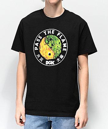 DGK Ying Yang Fire Black T-Shirt