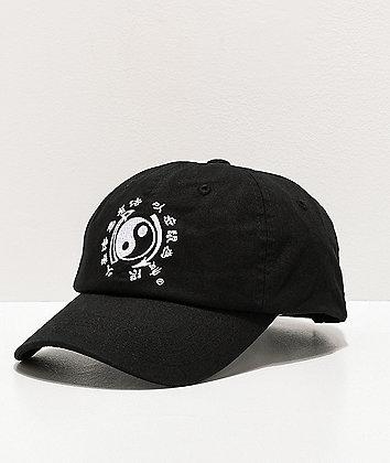 DGK x Bruce Lee Yin Yang Black & White Strapback Hat