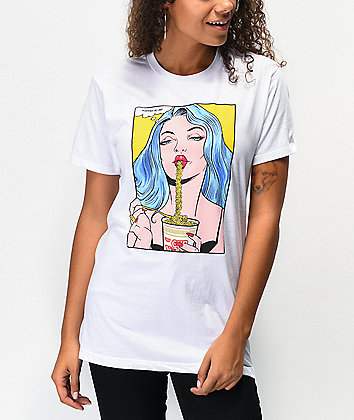 DGK x Cup Noodles Slurpface White T-Shirt