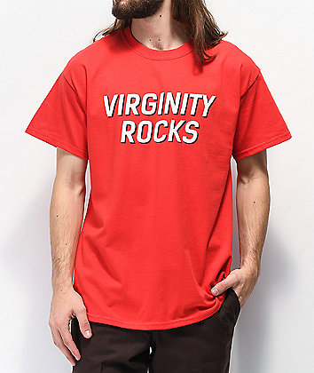 Danny Duncan Virginity Rocks Red & White T-Shirt