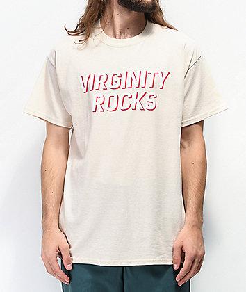 Danny Duncan Virginity Rocks Tan & White T-Shirt
