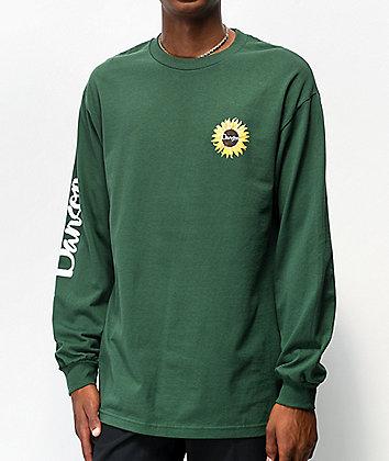 Danson Sunflower Forest Green Long Sleeve T-Shirt