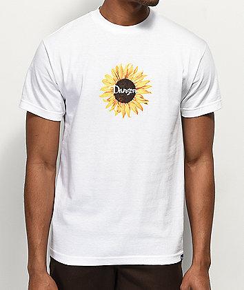 Danson Sunflower White T-Shirt