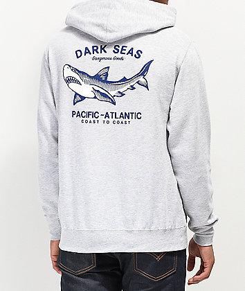 Dark Seas Pacific-Atlantic Grey Hoodie