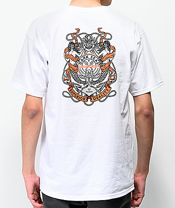 Dark Seas x Grundens Anchored White T-Shirt