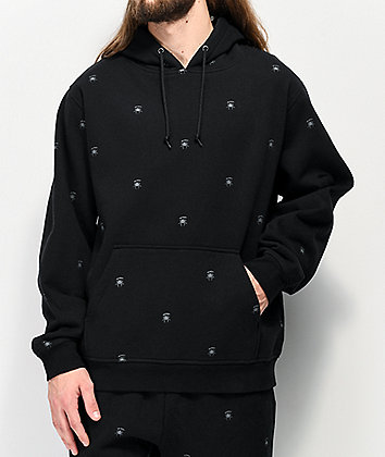 Deathworld All Over Spider Black Hoodie