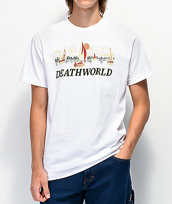 Deathworld Sail Away White T-Shirt
